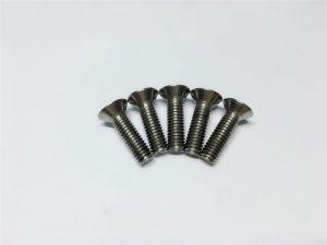 Нуруу нугасны мэс засалд зориулагдсан M3, M6 титан шураг хавтгай толгой залгуур толгой титан фланц шураг